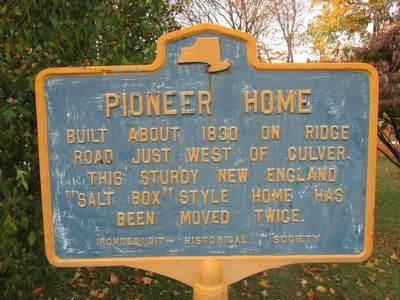 Pioneer Home Marker image. Click for full size.