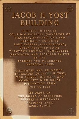Jacob H. Yost Building Marker image. Click for full size.