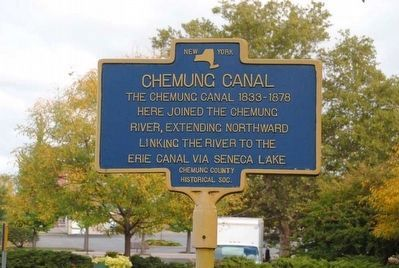Chemung Canal Marker image. Click for full size.