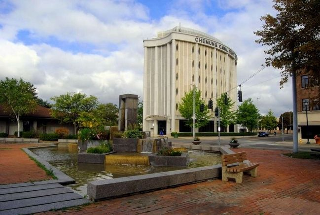 Citizens Cascade<br>Chemung Canal Trust Company Building in Background image. Click for full size.