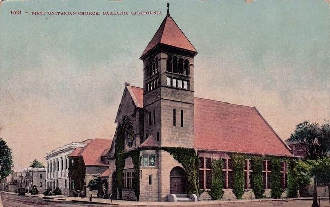 <i>First Unitarian Church, Oakland, California</i> image. Click for full size.