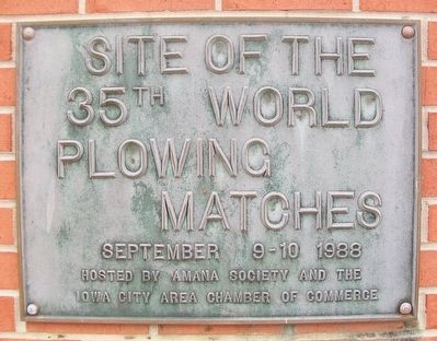 Site of the 35th World Plowing Matches Marker image. Click for full size.
