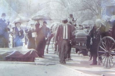 Reenactment of the Burial of Samuel Clemens Held on the 100th Anniversary of His Death image. Click for full size.