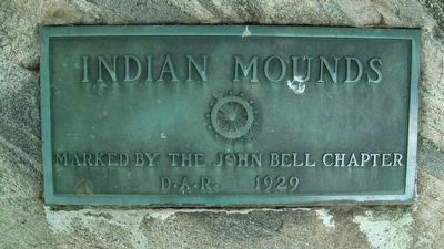 Closeup of Nearby Indian Mounds Marker image. Click for full size.