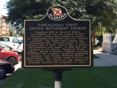 Tuscaloosa First United Methodist Church Marker image. Click for full size.