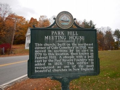 Park Hill Meeting House Marker image. Click for full size.