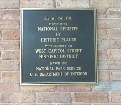 217 W. Capitol Marker image. Click for full size.