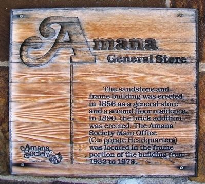 Amana General Store Marker image. Click for full size.