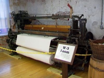 Historic Amana Woolen Mill W-3 Loom image. Click for full size.