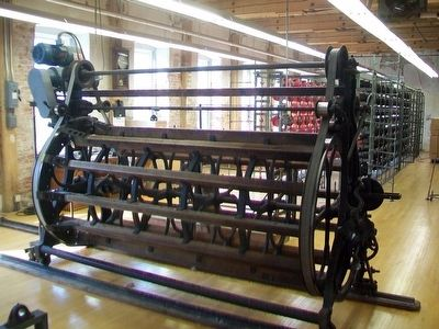 Historic Amana Woolen Mill Equipment image. Click for full size.
