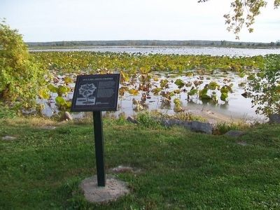 Lily Lake, Amana Colonies and Marker image. Click for full size.