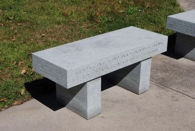 Chemung County World War II Monument Memorial Bench image. Click for full size.