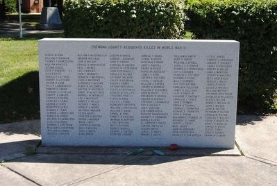 Chemung County World War II Monument<br>South Tablet image. Click for full size.