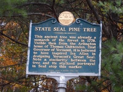 State Seal Pine Tree Marker image. Click for full size.