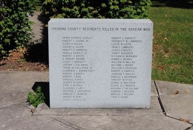 Chemung County Residents Killed in the Korean War image. Click for full size.