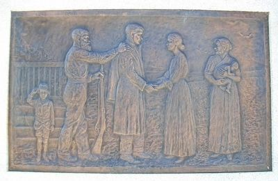 "Civil War Memorial Bas Relief ""Going to War"" image. Click for full size."