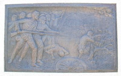 "Civil War Memorial Bas Relief ""Battle"" image. Click for full size."