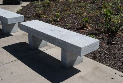 Chemung County World War I Monument Memorial Bench image. Click for full size.