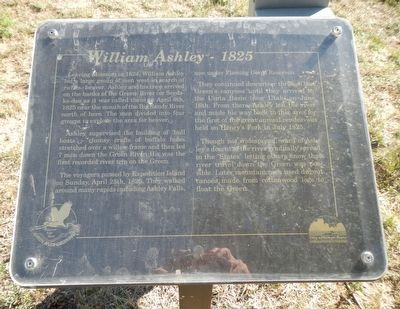 William Ashley - 1825 Marker image. Click for full size.