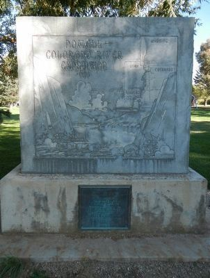 Powell - Colorado River Expedition 1869 Marker, front image. Click for full size.
