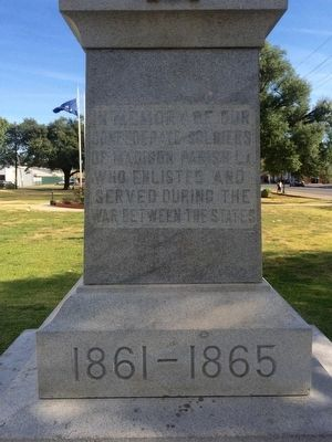 Madison Parish Confederate Monument Marker image. Click for full size.