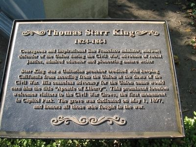 Thomas Starr King Marker image. Click for full size.