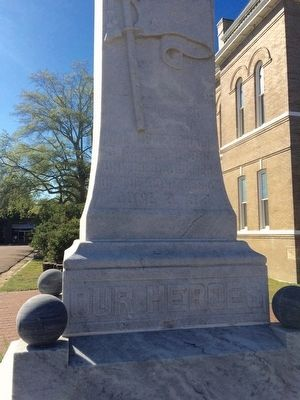 Tallahatchie County Confederate Monument Marker (Front) image. Click for full size.