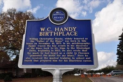 W. C. Handy Birthplace Marker (side 1) image. Click for full size.