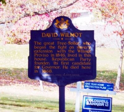 David Wilmot Marker image. Click for full size.
