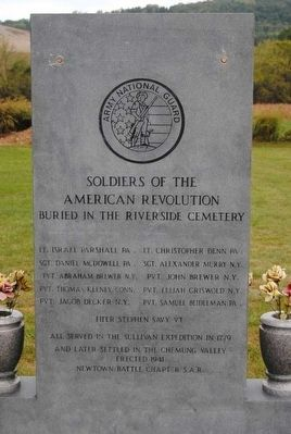 Soldiers of the American Revolution Monument image. Click for full size.