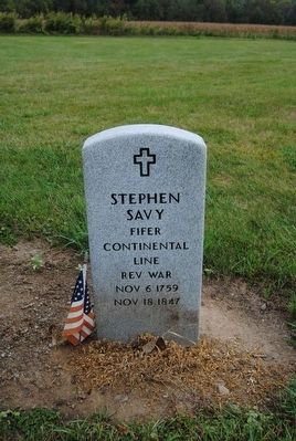 Fifer Stephen Savy Tombstone image. Click for full size.