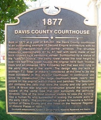 Davis County Courthouse Marker image. Click for full size.