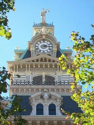 Davis County Courthouse Belfry and Clock Tower image. Click for full size.