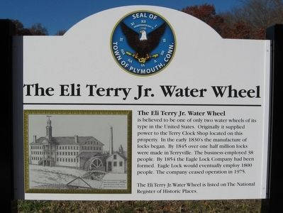 The Eli Terry Jr. Water Wheel Marker image. Click for full size.