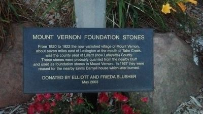 Mount Vernon Foundation Stones Marker image. Click for full size.