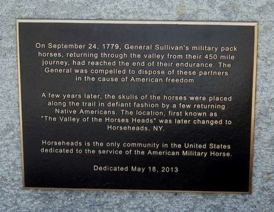 Horseheads Marker image. Click for full size.