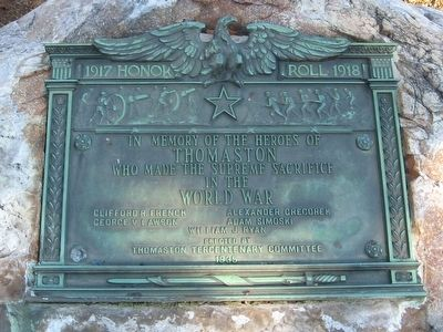 Thomaston World War I Memorial image. Click for full size.