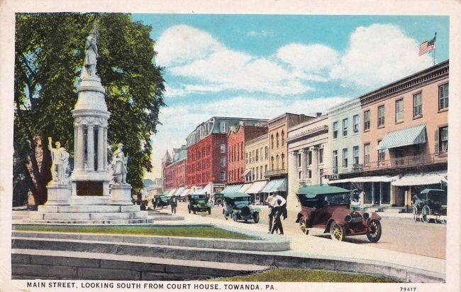 <i>Main Street, Looking South from Court House, Towanda, Pa.</i> image. Click for full size.