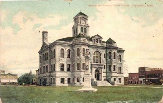<i>Appanoose County Court House, Centerville, Iowa</i> image. Click for full size.