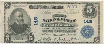 Old bank note from early 1900's issued by: image. Click for full size.
