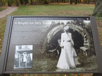 A Respite for Mrs. Roosevelt Marker image. Click for full size.