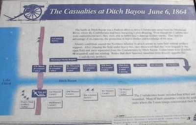 The Casualties at Ditch Bayou June 6, 1864 Marker image. Click for full size.
