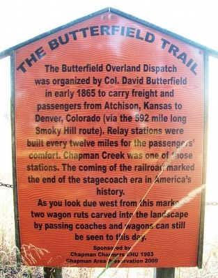 The Butterfield Trail Marker image. Click for full size.
