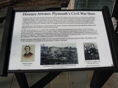 Dorence Atwater, Plymouth's Civil War Hero image. Click for full size.