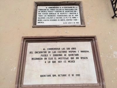 Additional markers on the Templo de la Santa Cruz image. Click for full size.