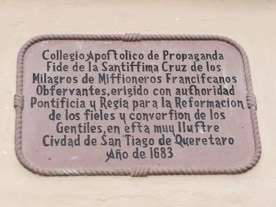 An additional marker on the Templo de la Santa Cruz image. Click for full size.