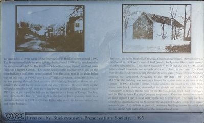 Site of Buckeystown Methodist Episcopal Church Marker image. Click for full size.