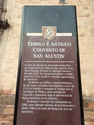 Temple and Old Convent of San Agustin Marker image. Click for full size.