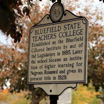 Bluefield State Teacher�s College Marker image. Click for full size.