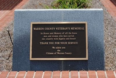 Warren County Veterans Monument image. Click for full size.